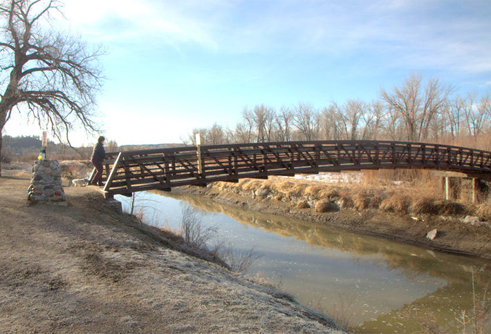 bridge over water near the crossings bed and breakfast