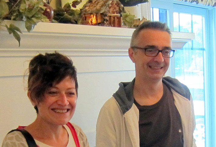 Italian Guests at the Crossings Bed and Breakfast