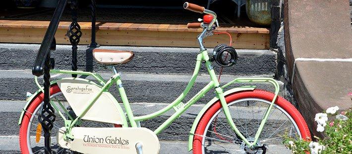 bike at Alexander House in Saratoga Springs, NY