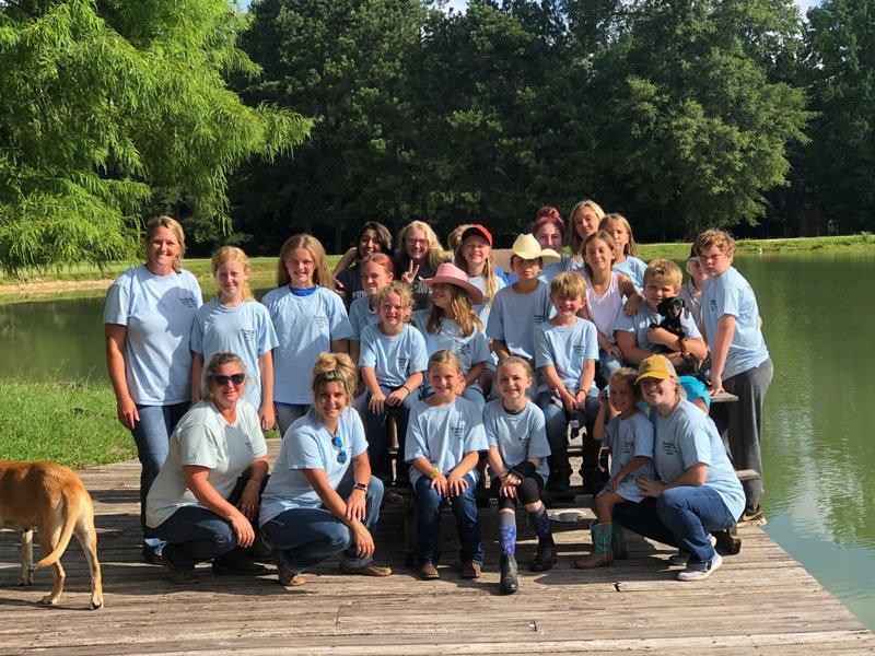 Camp kids and staff