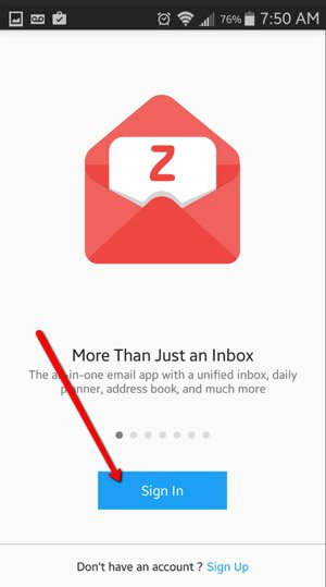 Connect ZOHO Mail to Android Devices 7