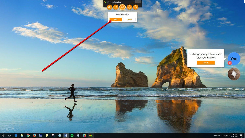 Using Join Me - Google Chrome 10