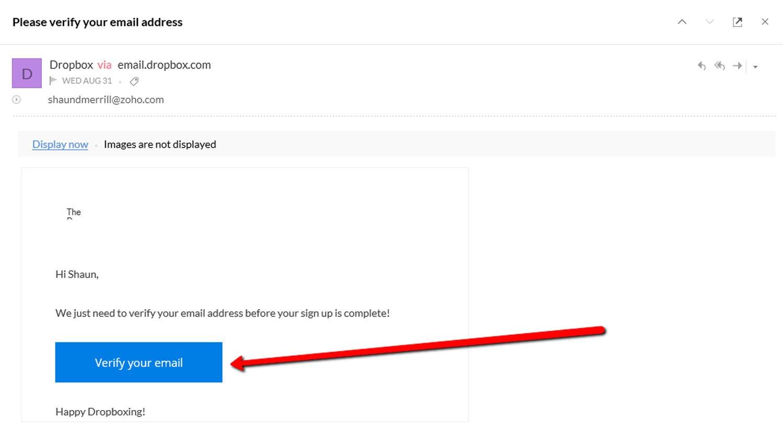 Set up a Dropbox Account 10