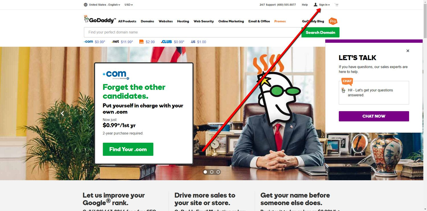 Create GoDaddy Account 1