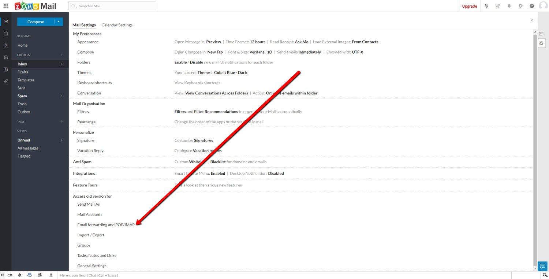 Connect ZOHO Mail to Thunderbird 2