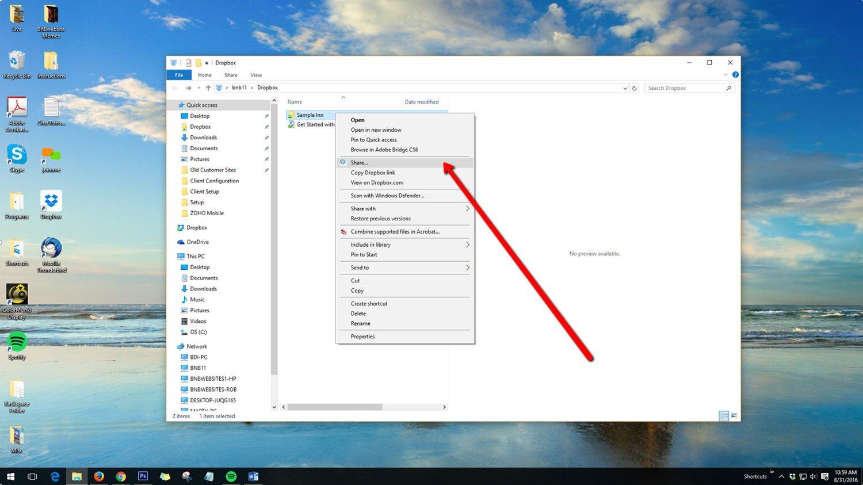 Sharing Dropbox Folders