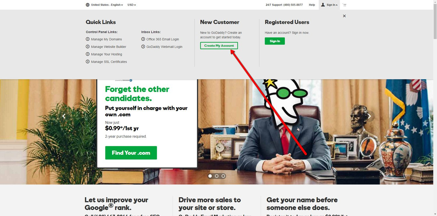 Create GoDaddy Account 2