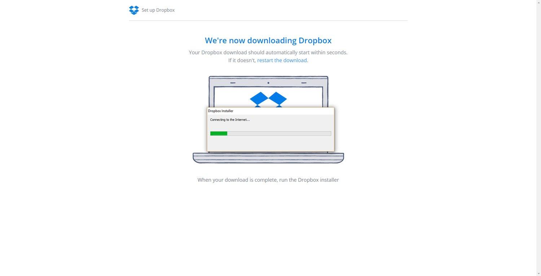 Set up a Dropbox Account 4