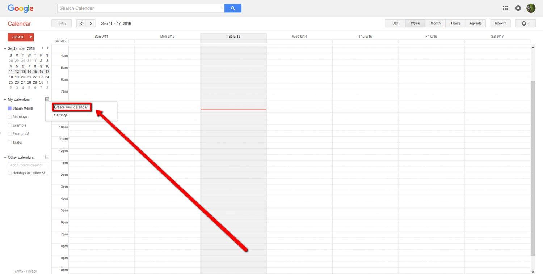 How To Create a Google Calendar 4