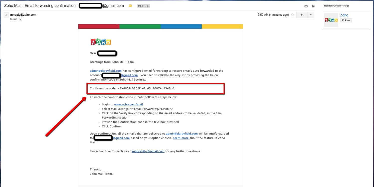 Forward Zoho Emails to another Account 5