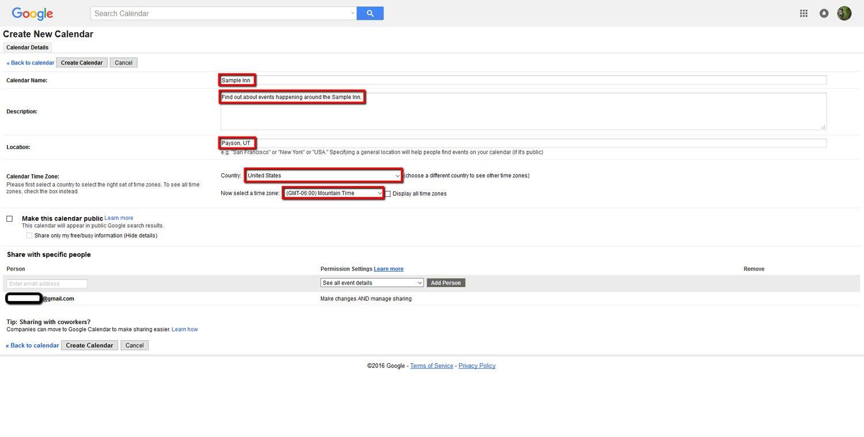 How To Create a Google Calendar 5