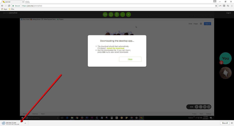Using Join Me - Google Chrome 1