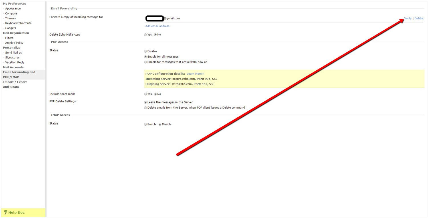 Forward Zoho Emails to another Account 6