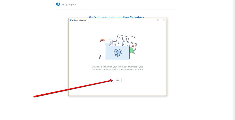 Set up a Dropbox Account 7