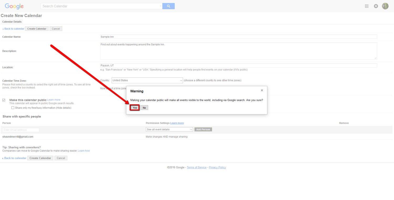 How To Create a Google Calendar 8