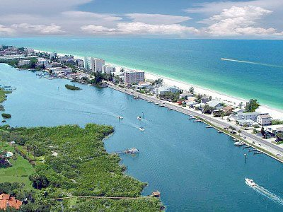 Florida sand bar and beaches