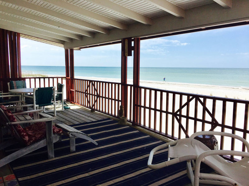 Beachfront Bungalow #7 at Carter Vacation Rentals
