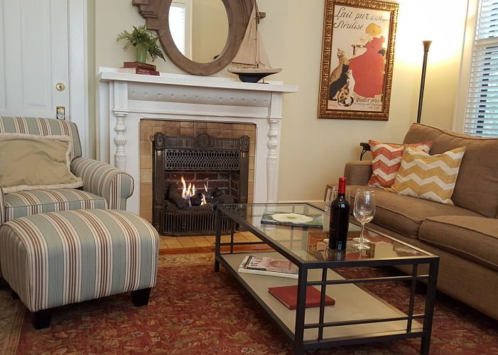 Sitting Area with a fireplace