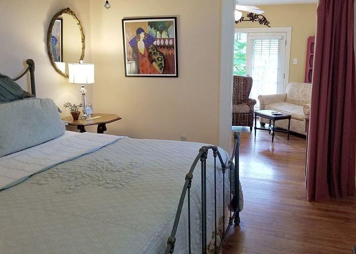 Bedroom with view to front door