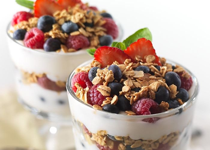 Rosehaven Breakfast yogurt berries granola in Little Rock, AR
