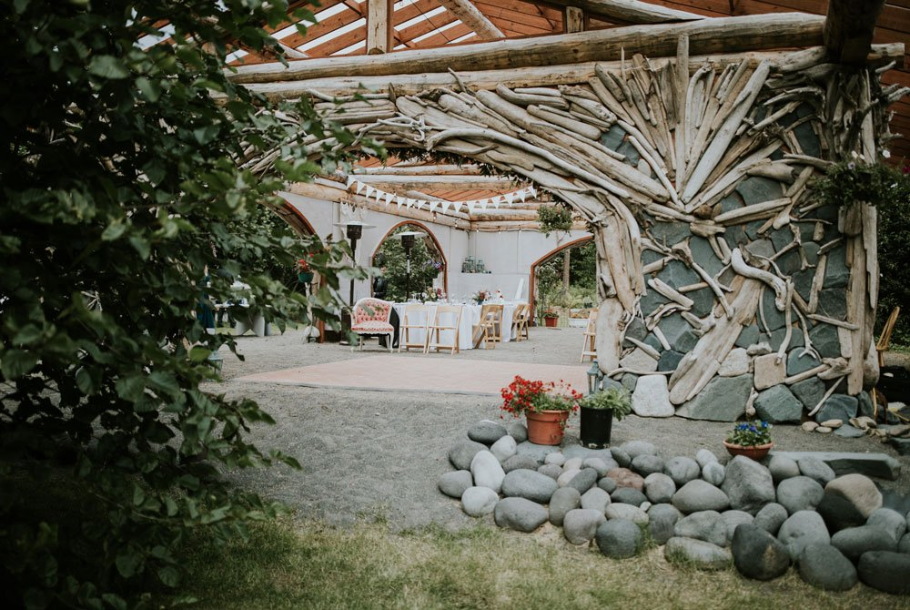 Front of the wedding venue