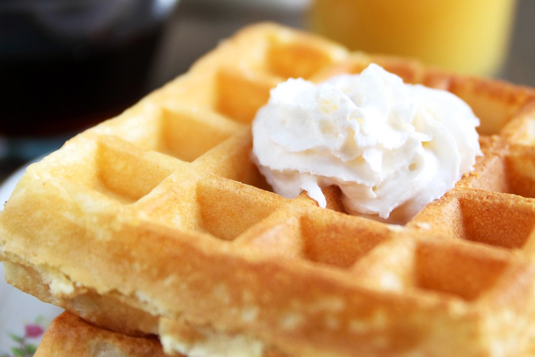 Waffles, Breakfast at the Night Swan Intracostal Bed and Breakfast in New Smyrna Beach, Florida