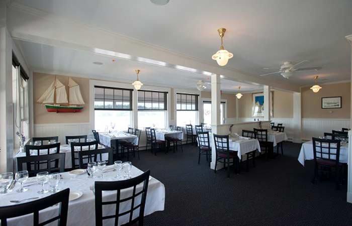 Restaurant at East Wind inn in Tenants Harbor, Maine
