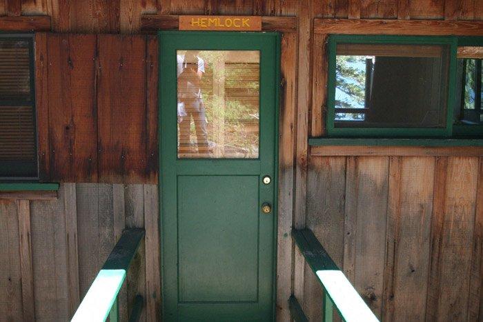 Door to a cabin