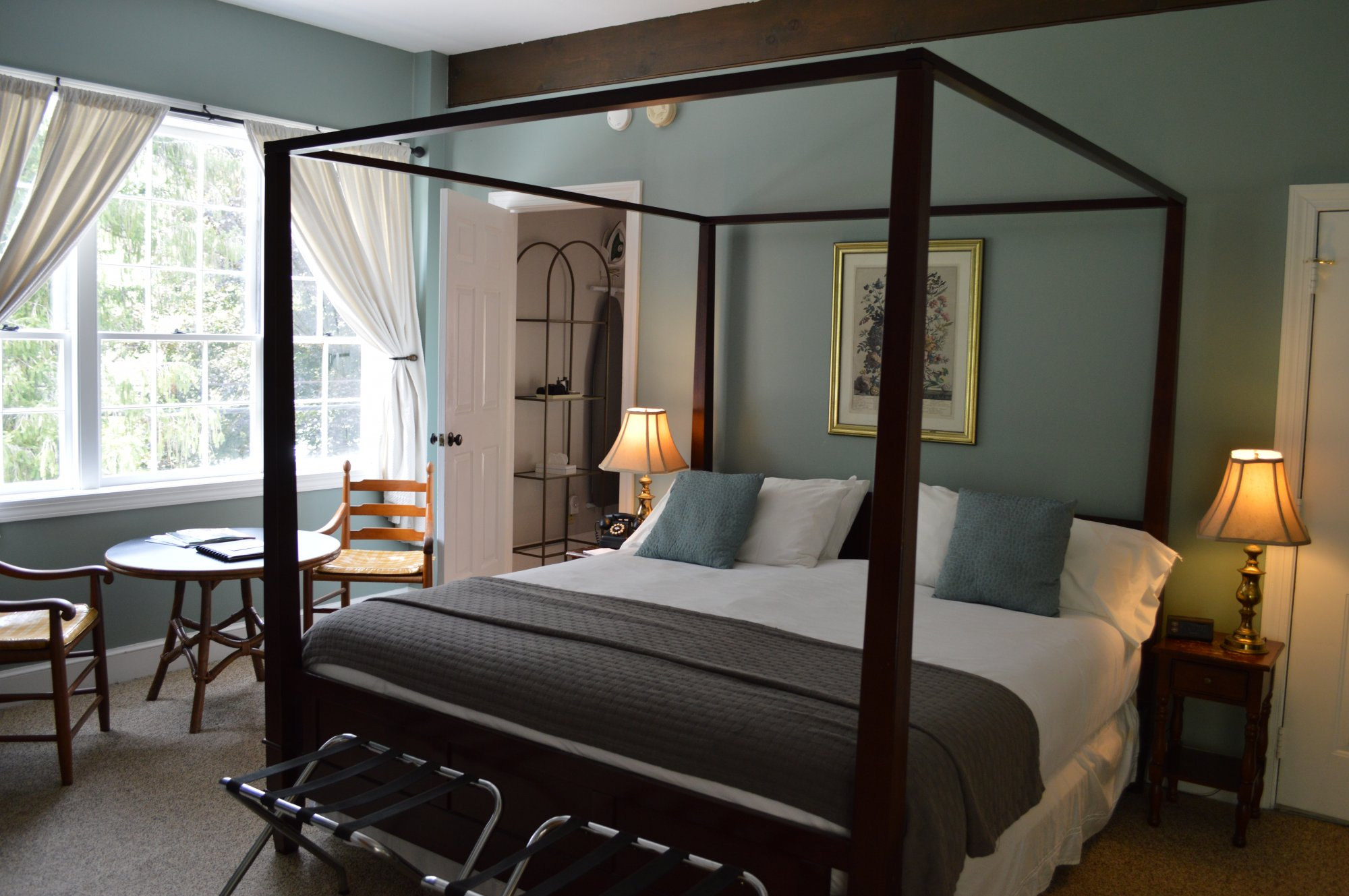 Bromley Room at the Inn at Gristmill Square in Warm Springs, Virginia