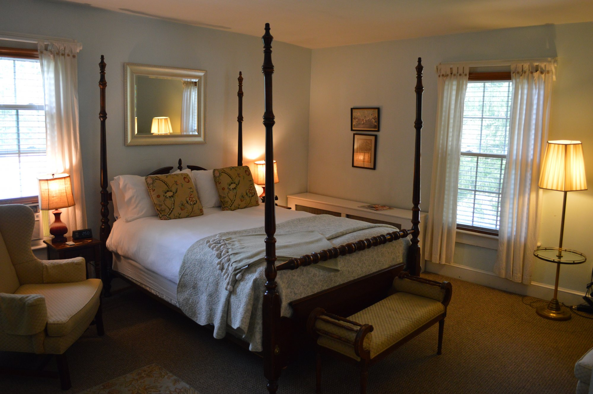 Jennie Payne Room at the Inn at Gristmill Square in Warm Springs, Virginia