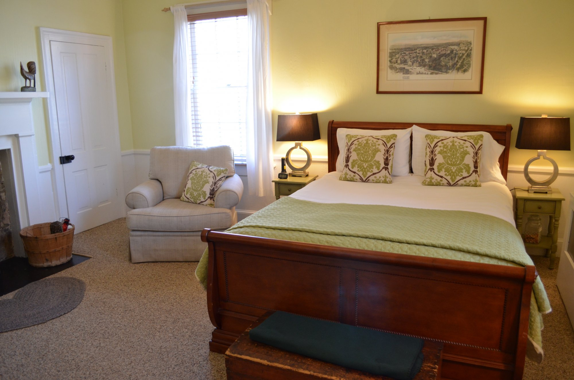 Croft Room at the Inn at Gristmill Square in Warm Springs, Virginia