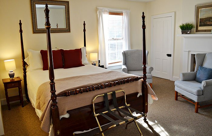 Virginia Room at the Inn at Gristmill Square in Warm Springs, Virginia