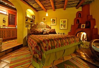Guest Rooms at Hacienda del Sol in Taos, NM