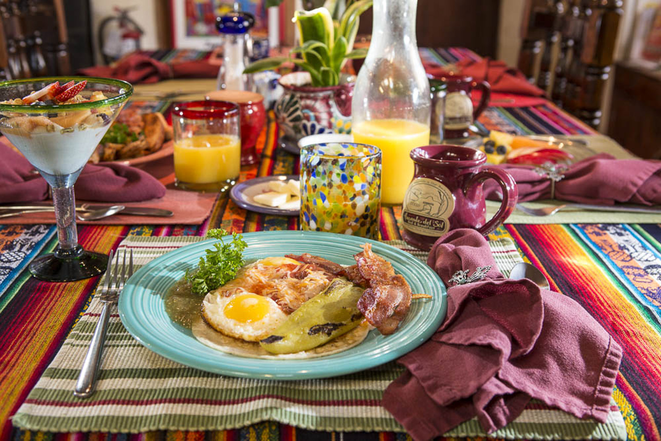 Breakfast at Hacienda del Sol in Taos, NM
