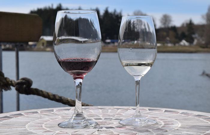 Wine Tasting at La Conner Channel Lodge in La Conner, Wa