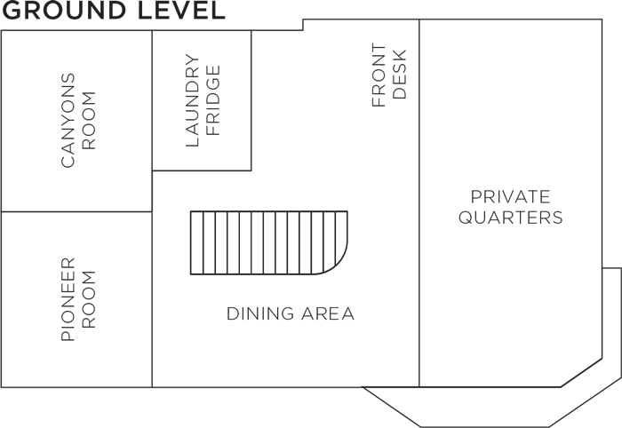 Ground Level Room Floorplan