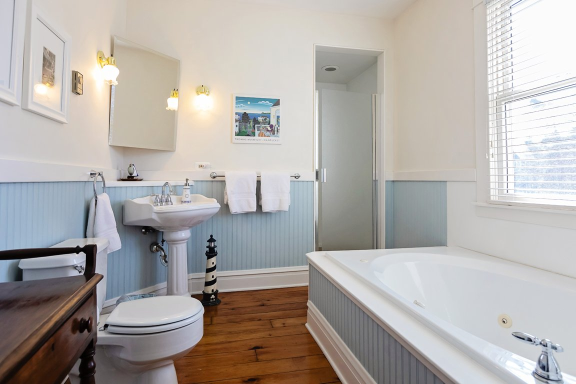 guest bathroom jacuzzi tub and walk in shower