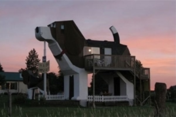 2nd floor house shaped like a dog