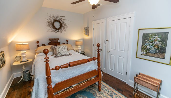 Bed and end table