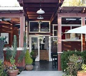 Indigo Moon restaurant doors and porch