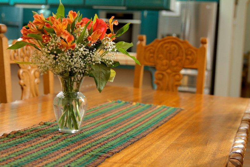 A floral arrangement on a table