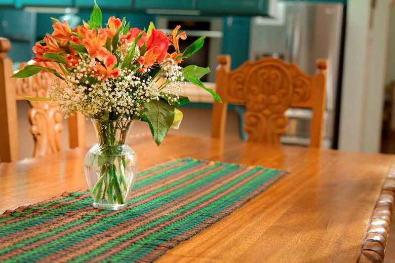 A floral arrangement on a table