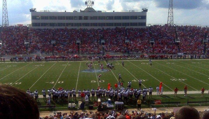 An american football game