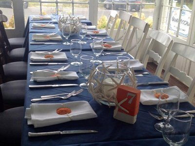 A table set for an event