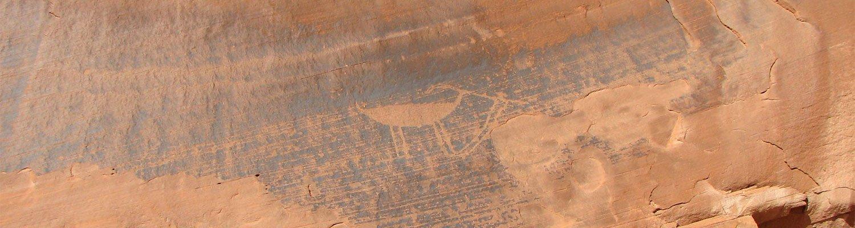 An old petroglyph of an animal