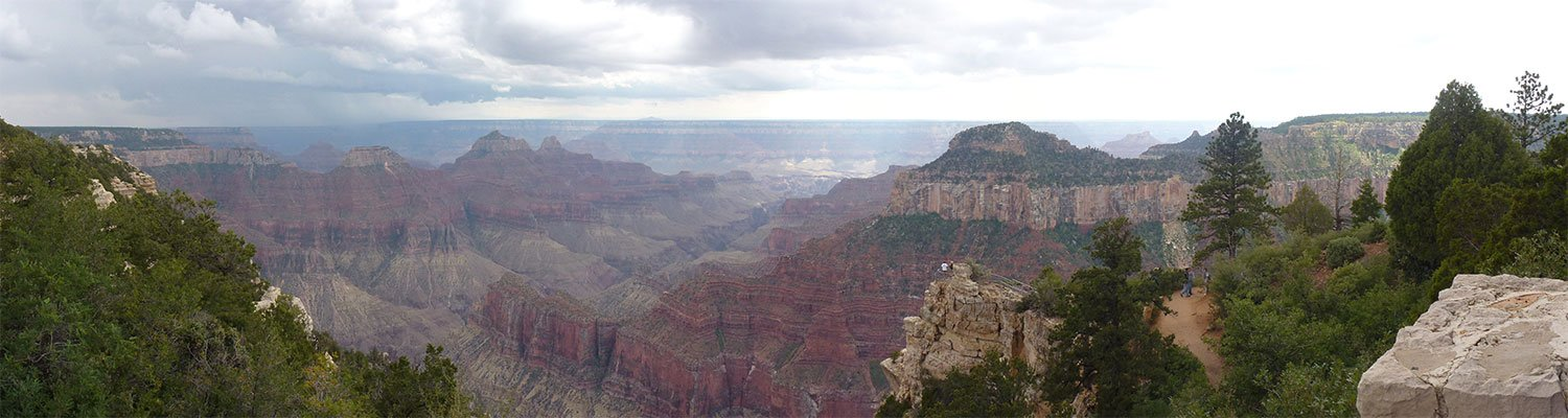 View from the rim of the Grand Canyon