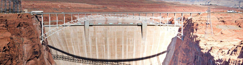 A view down onto the Glen Canyon Dam