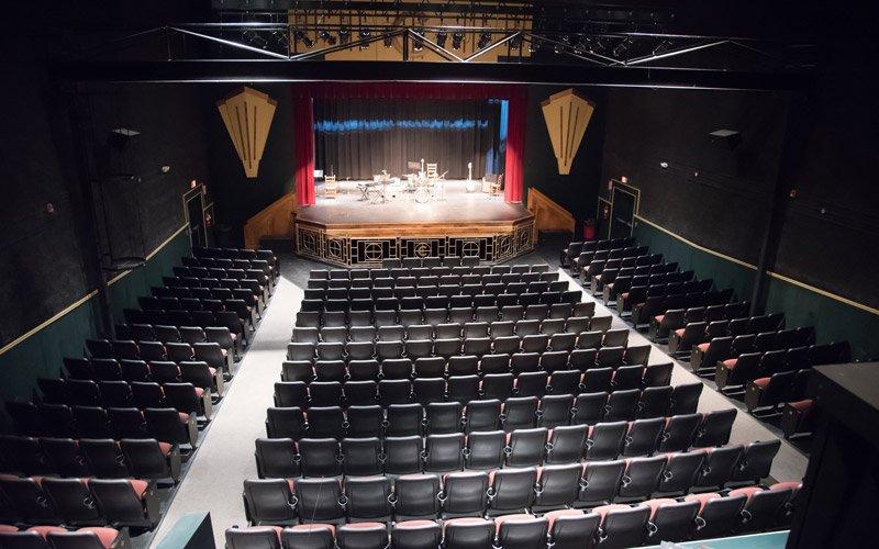 Theatre auditorium with stage