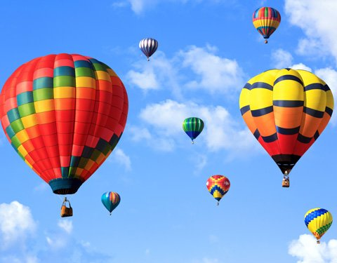 hot air balloons near Garden Gables Inn in Lenox, MA