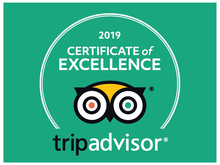 TripAdvisor Certificate of Excellence for 8 years